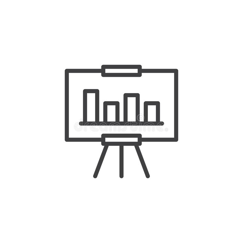 Analytics Board Outline Icon. Linear Style Sign For Mobile