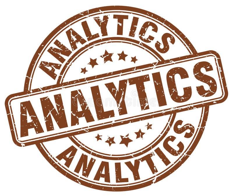 analytics bruine zegel stock illustratie