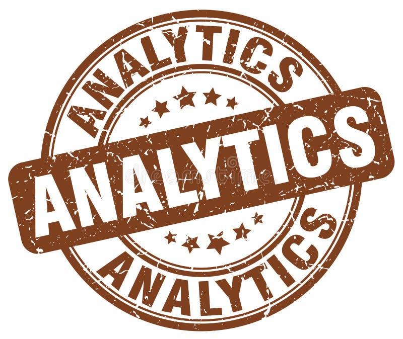 analytics bruine zegel royalty-vrije illustratie