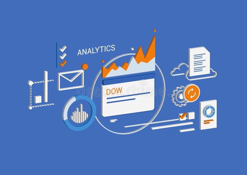Analytics & business. Isometric concept. royalty free illustration