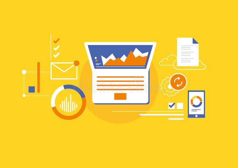 Analytics for business stock illustration
