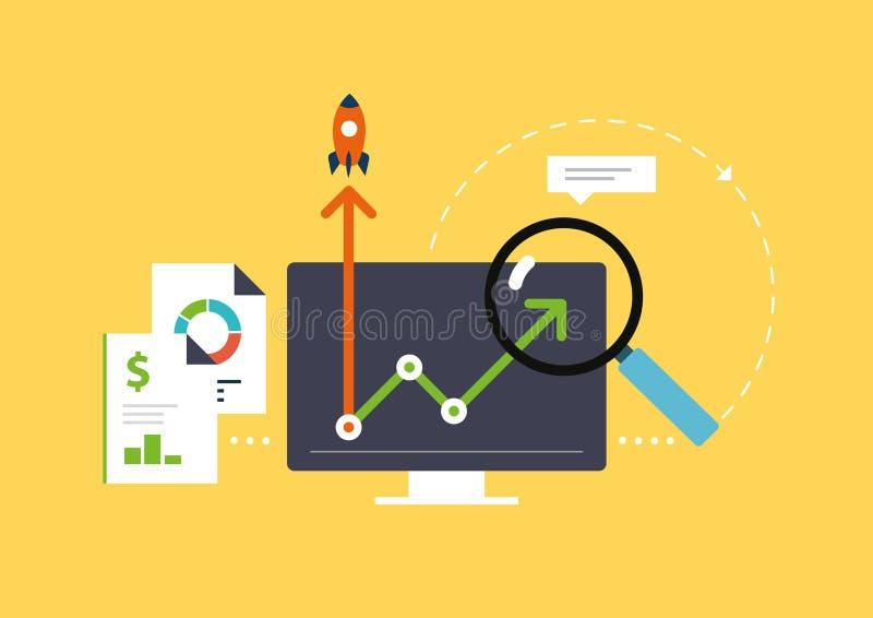 Analytics for business vector illustration