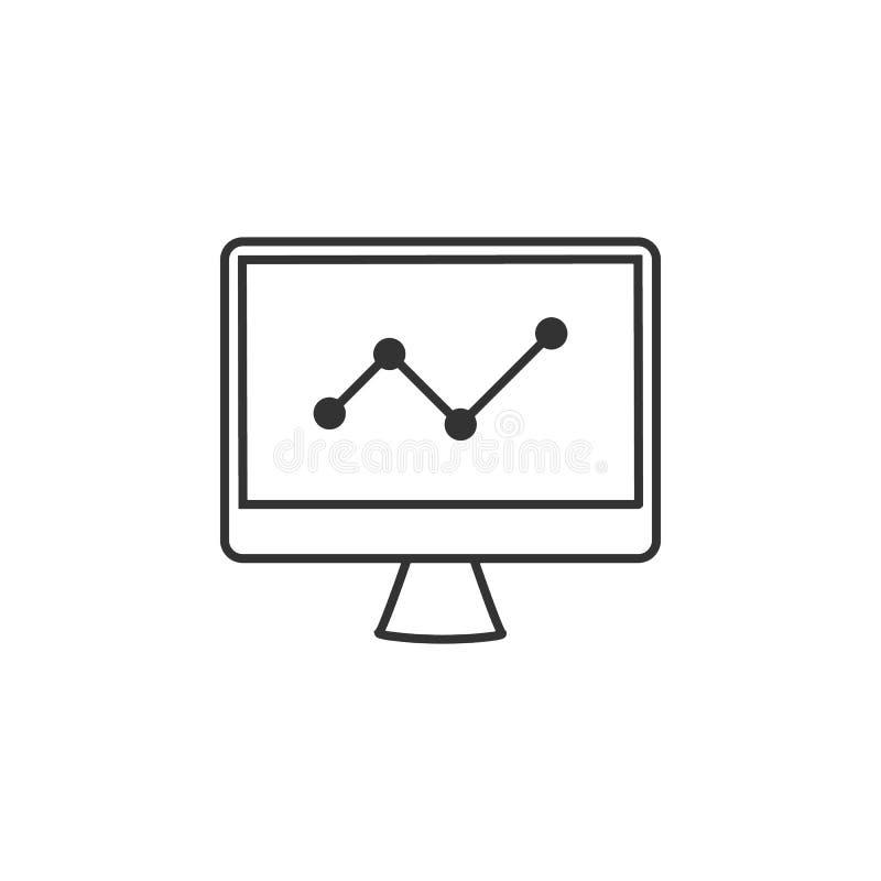 Analytics, carta, línea icono del gráfico Ejemplo plano simple, moderno del vector para el app móvil, sitio web o mesa app libre illustration