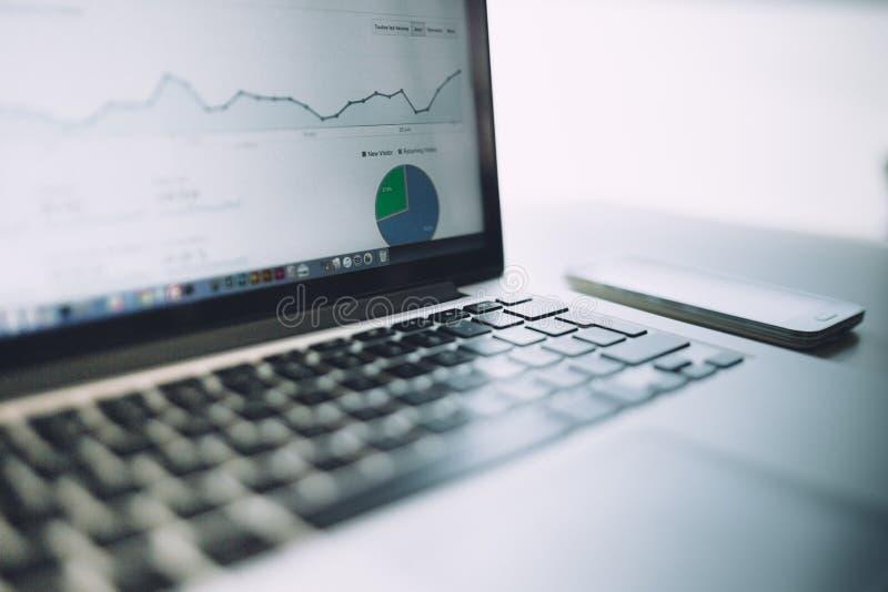 Analytics chart royalty free stock photography