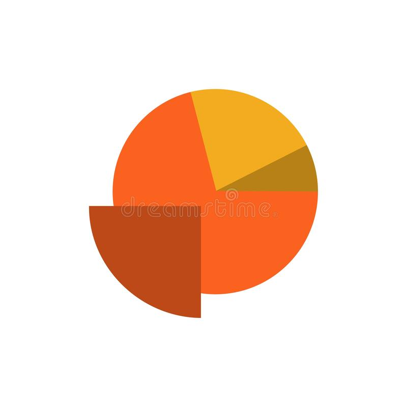 Analytics, Chart, Pie, Graph  Flat Color Icon. Vector icon banner Template stock illustration