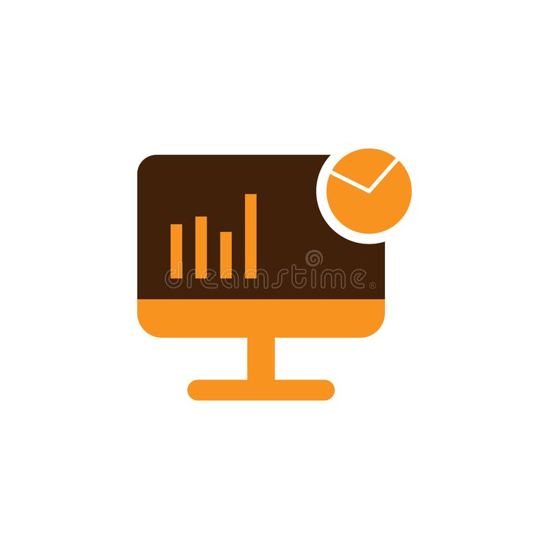 Analytics, charts icon. Element of Web Optimization icon for mobile concept and web apps. Detailed Analytics, charts icon can be. Used for web and mobile on vector illustration