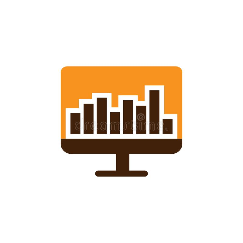 Analytics, computer icon. Element of Web Optimization icon for mobile concept and web apps. Detailed Analytics, computer icon can. Be used for web and mobile on vector illustration