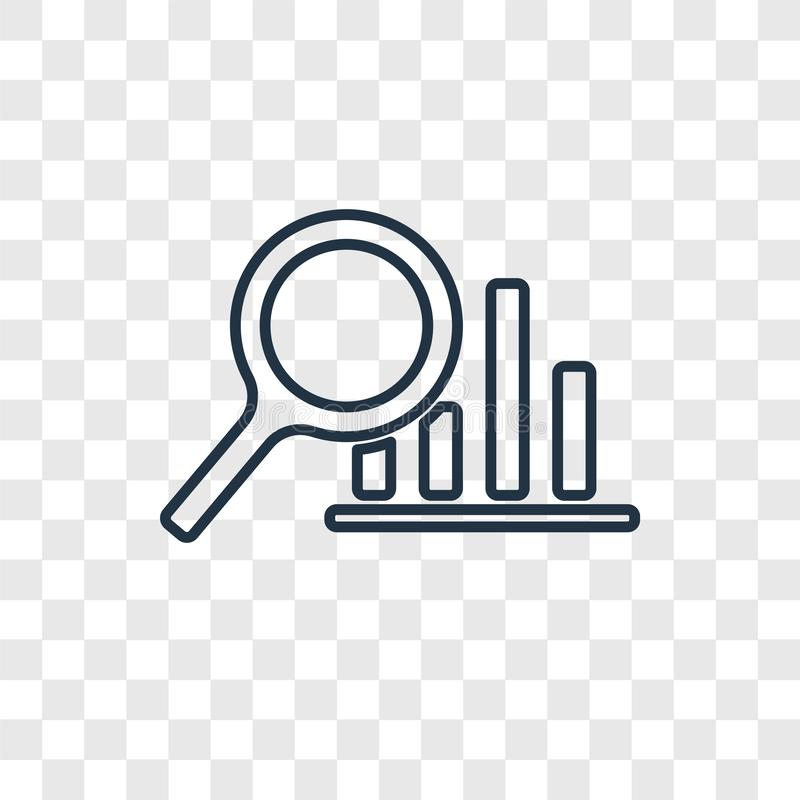 Analytics concept vector linear icon isolated on transparent background, Analytics concept transparency logo in outline style royalty free illustration