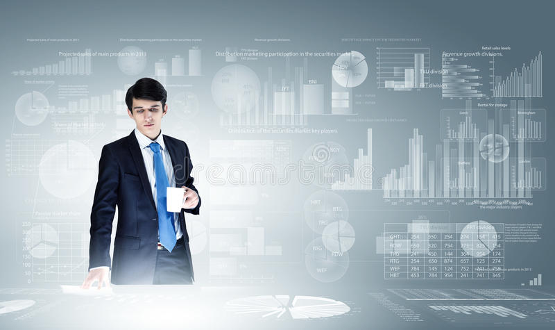 Analytics d'affaires photo libre de droits