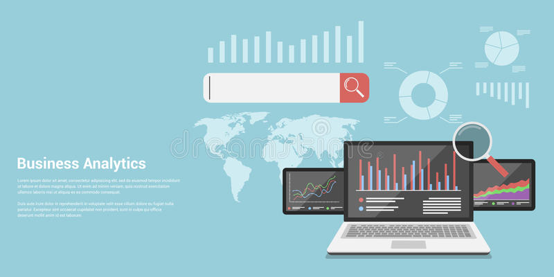 Analytics d'affaires illustration stock