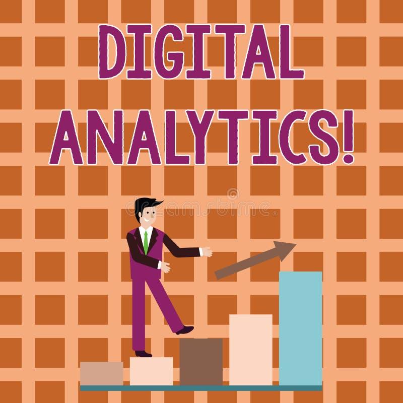 Analytics de Digital des textes d'?criture de Word Concept d'affaires pour l'analyse du sourire qualitatif et quantitatif de donn illustration stock