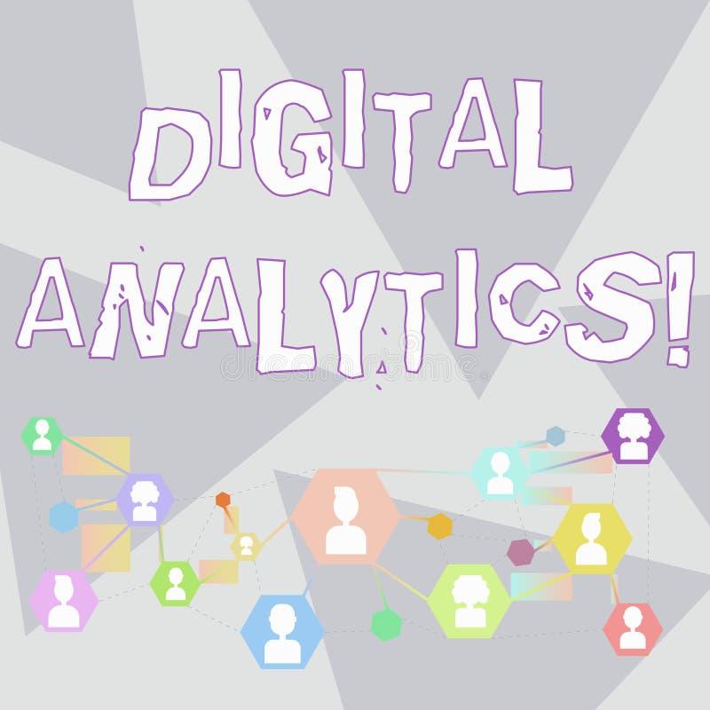 Analytics de Digital des textes d'?criture de Word Concept d'affaires pour l'analyse de la causerie en ligne de données qualitati illustration stock