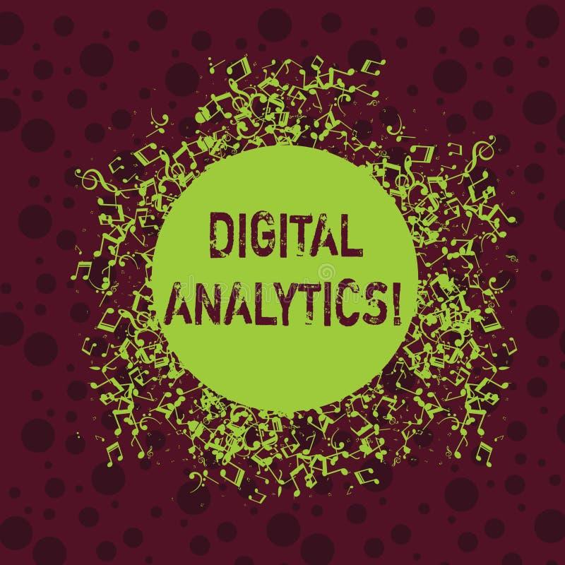 Analytics de Digital des textes d'?criture de Word Le concept d'affaires pour l'analyse des données qualitatives et quantitatives illustration libre de droits