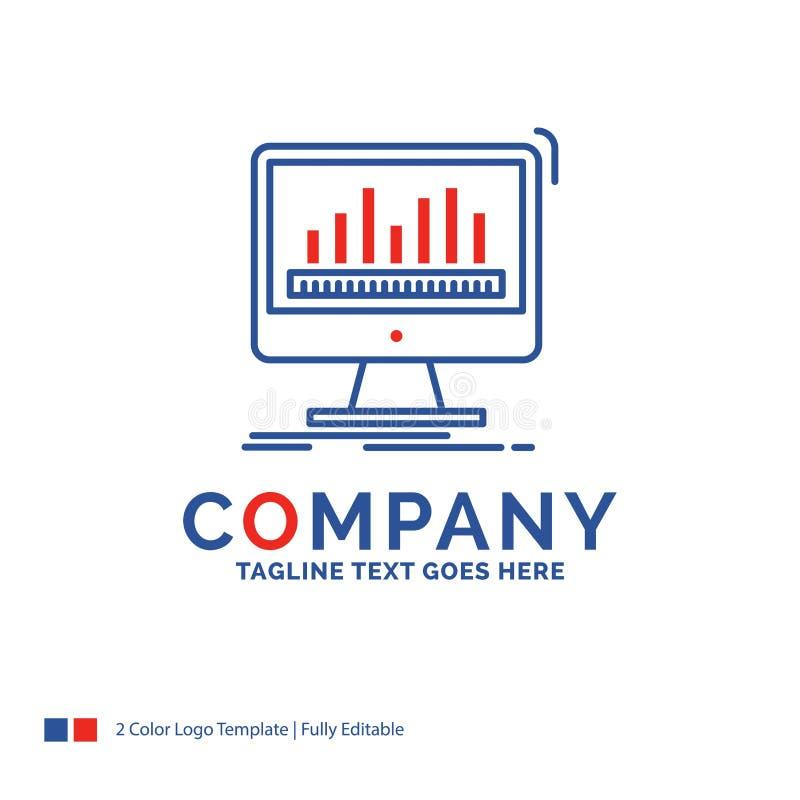 Analytics de Logo Design For de nom de la société, traitant, tableau de bord, d illustration libre de droits