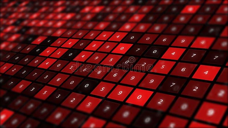 Analytics de los datos y backround grandes del extracto del concepto de la inteligencia empresarial stock de ilustración