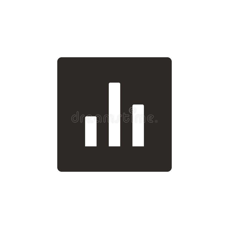 Analytics, Diagrammvektorikone Einfache Elementillustration von UI-Konzept Analytics, Diagrammvektorikone Finanzkonzeptvektor lizenzfreie abbildung
