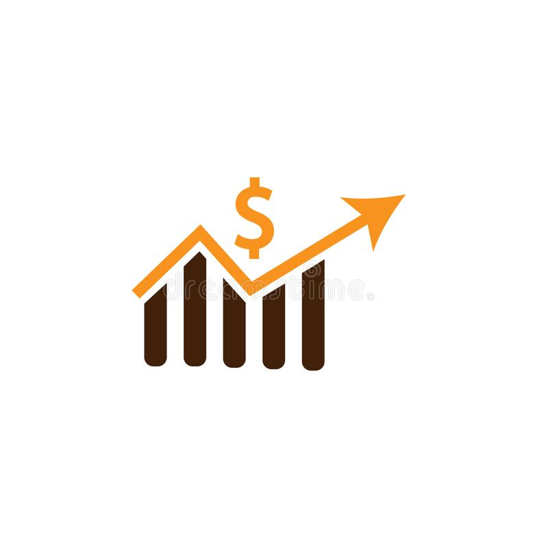 Analytics, dollar icon. Element of Web Optimization icon for mobile concept and web apps. Detailed Analytics, dollar icon can be. Used for web and mobile on royalty free illustration