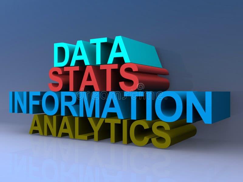 Analytics för information om datastatistik vektor illustrationer