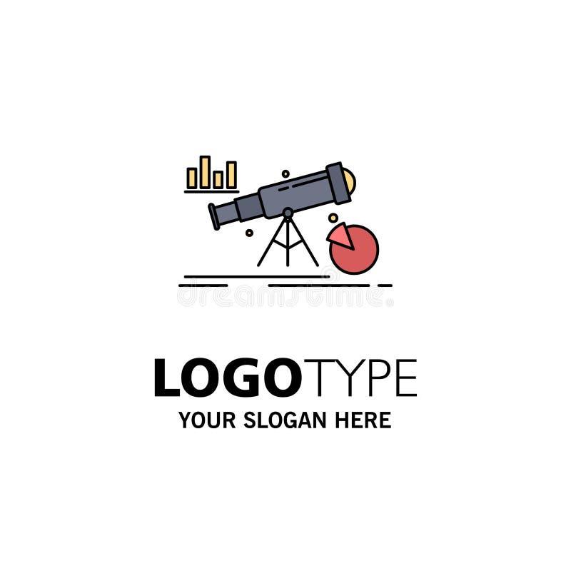 Analytics, finance, forecast, market, prediction Flat Color Icon Vector royalty free illustration