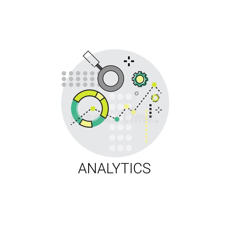 Analytics Financieel Bedrijfsanalysepictogram royalty-vrije illustratie