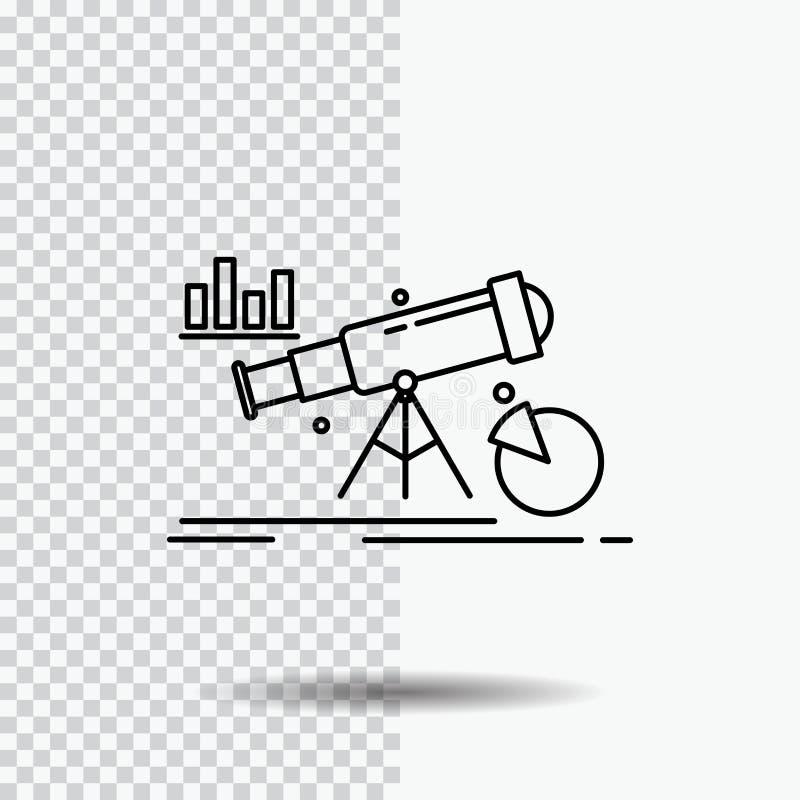 Analytics finans, prognos, marknad, förutsägelselinje symbol på genomskinlig bakgrund Svart symbolsvektorillustration stock illustrationer