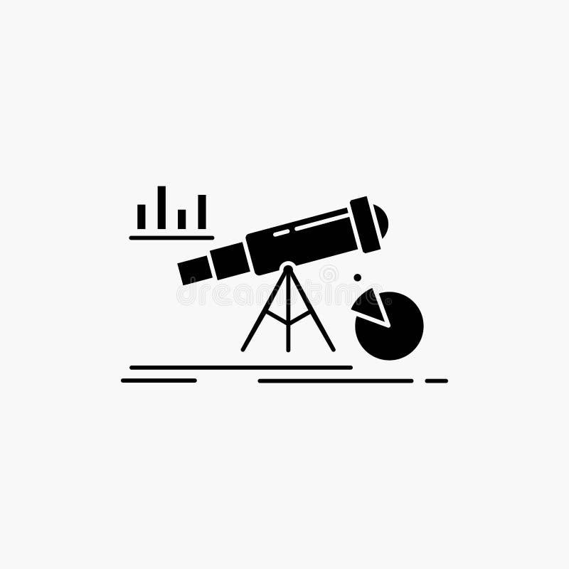 Analytics finans, prognos, marknad, förutsägelseskårasymbol Vektor isolerad illustration vektor illustrationer