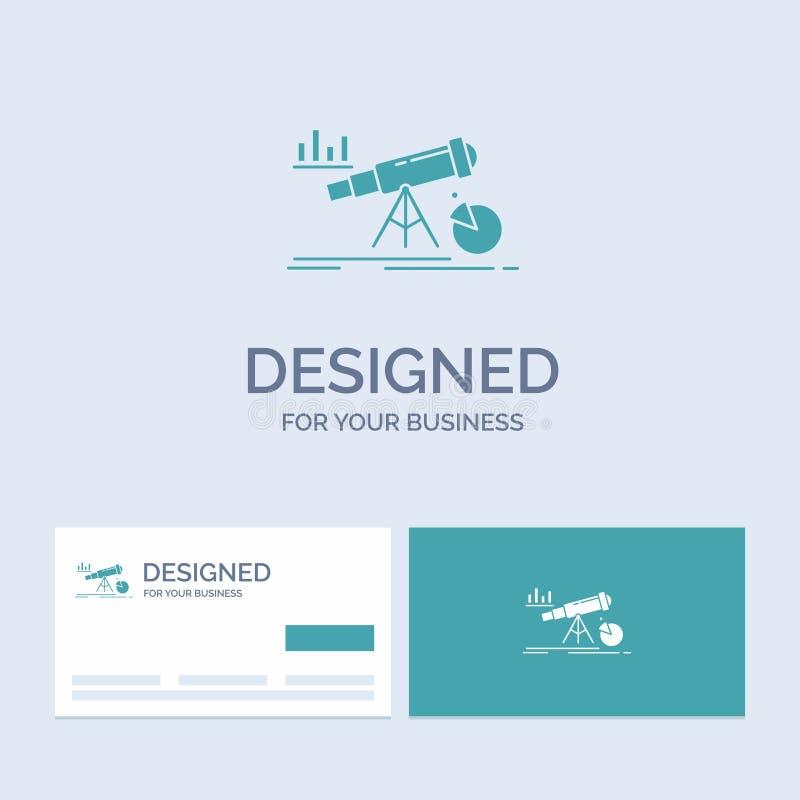 Analytics, Finanzierung, Prognose, Markt, Vorhersage Geschäft Logo Glyph Icon Symbol für Ihr Geschäft T?rkis-Visitenkarten mit vektor abbildung