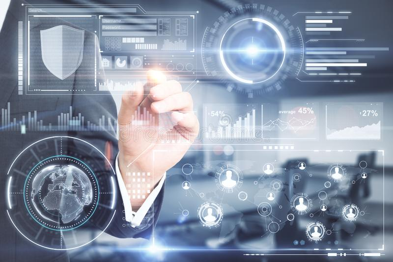 Analytics and future concept stock photos