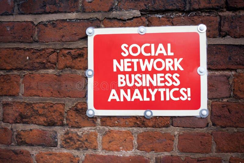 Analytics Geschäft Handschriftstextschreiben Sozialen Netzes Moderne Vernetzungson-line-verbindung der Konzeptbedeutung lizenzfreie stockbilder
