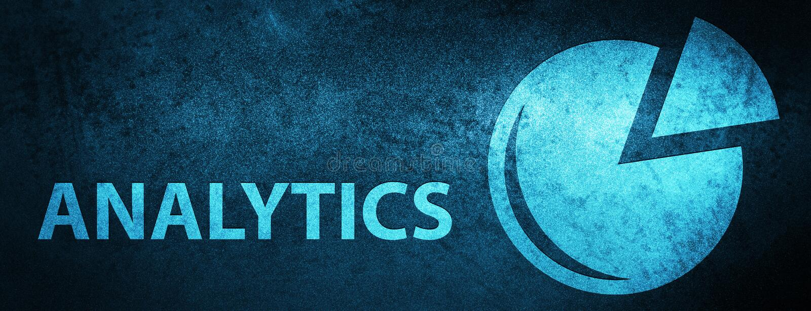 Analytics (graph icon) special blue banner background. Analytics (graph icon) isolated on special blue banner background abstract illustration vector illustration