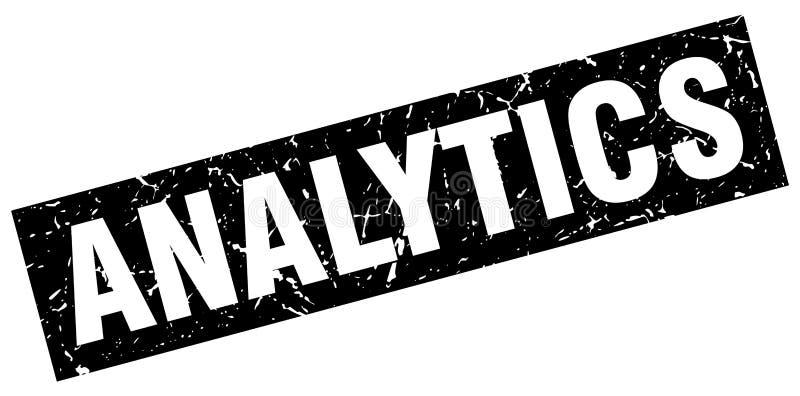analytics stamp stock illustration