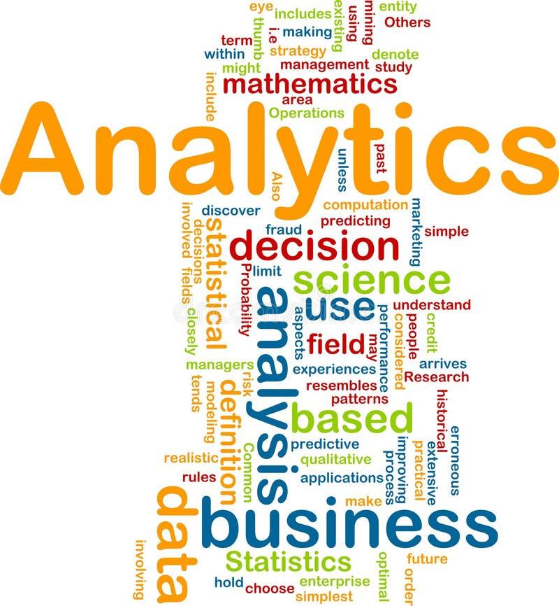 Analytics Hintergrundkonzept stock abbildung
