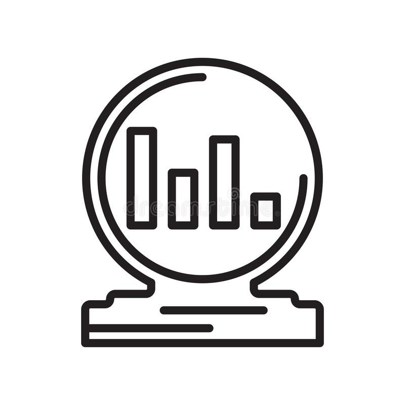 Analytics icon vector sign and symbol isolated on white background, Analytics logo concept royalty free illustration