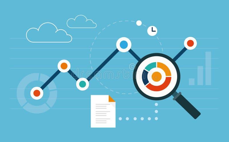 Analytics information vector illustration