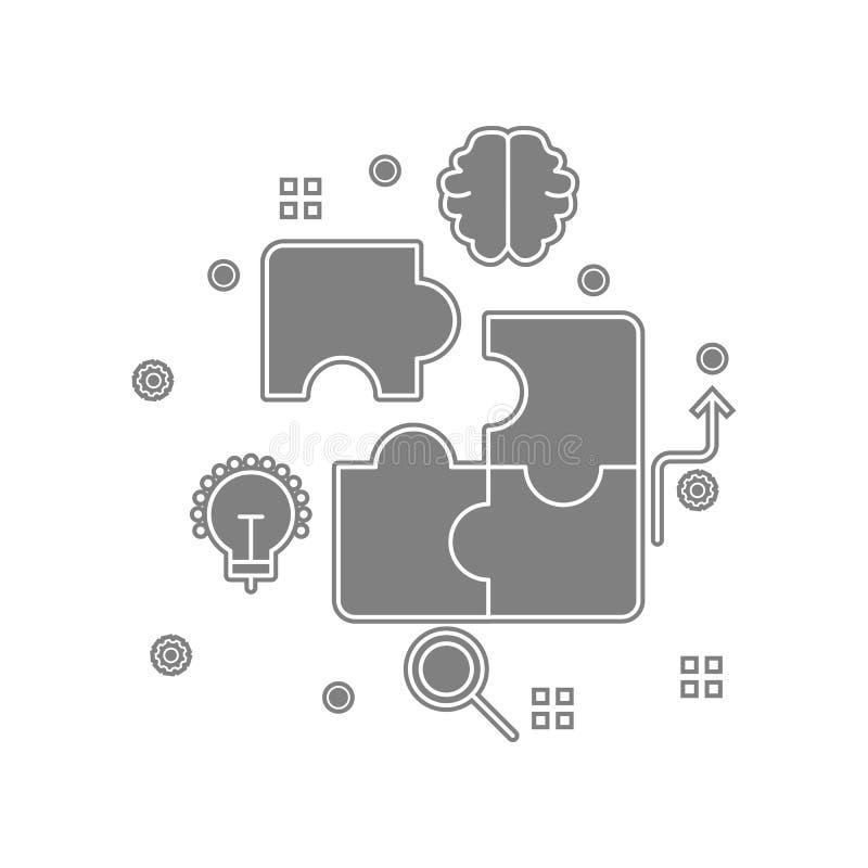 analytics kvarter, affär som marknadsför symbolen Beståndsdel av popicon för mobilt begrepp och rengöringsdukappssymbol Skåra pla stock illustrationer