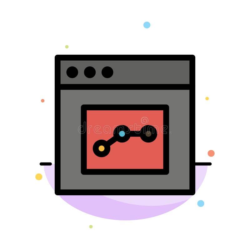 Analytics, Mededeling, Interface, het Pictogrammalplaatje van de Gebruikers Abstract Vlak Kleur vector illustratie