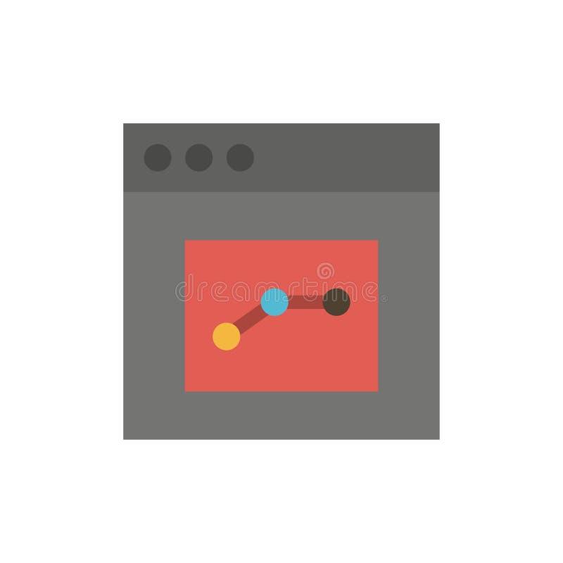 Analytics, Mededeling, Interface, Pictogram van de Gebruikers het Vlakke Kleur Het vectormalplaatje van de pictogrambanner stock illustratie