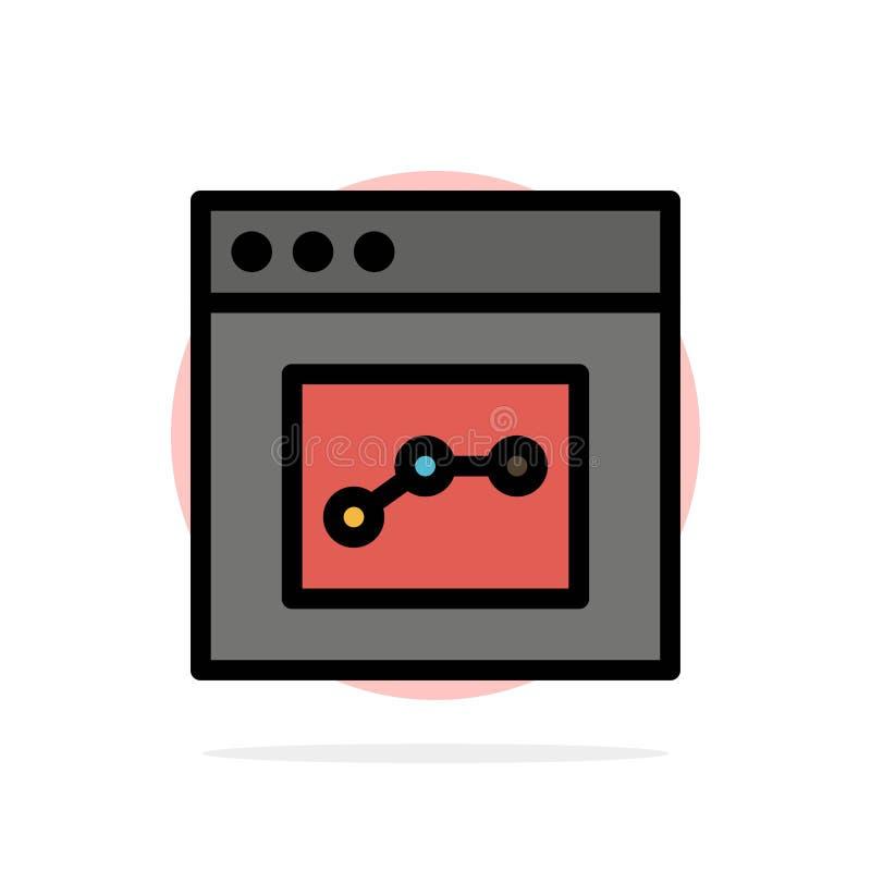 Analytics, Mededeling, Interface, van de Achtergrond gebruikers Abstract Cirkel Vlak kleurenpictogram royalty-vrije illustratie