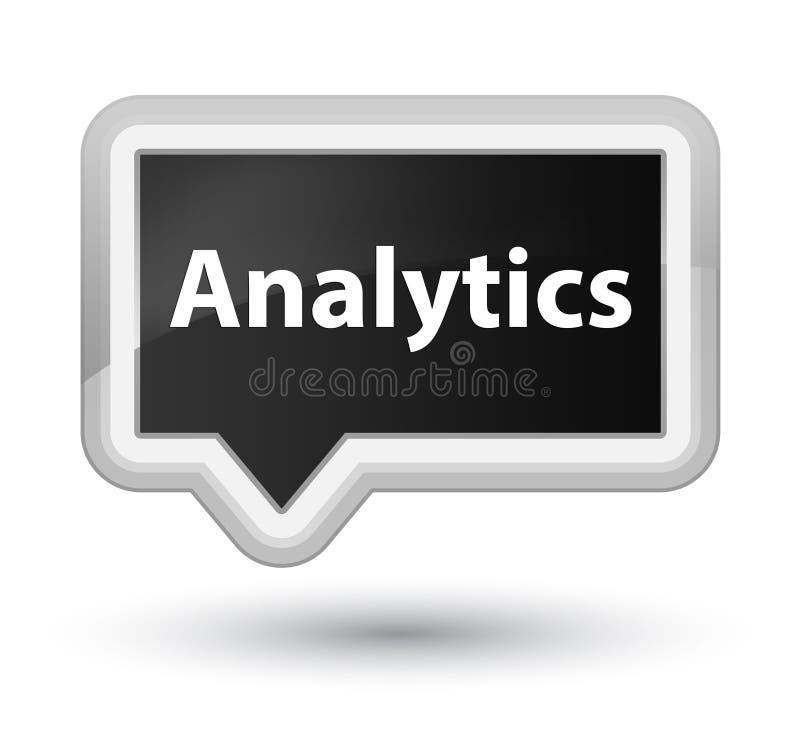 Analytics prime black banner button. Analytics isolated on prime black banner button abstract illustration stock illustration