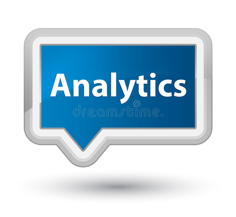 Analytics prime blue banner button. Analytics isolated on prime blue banner button abstract illustration vector illustration