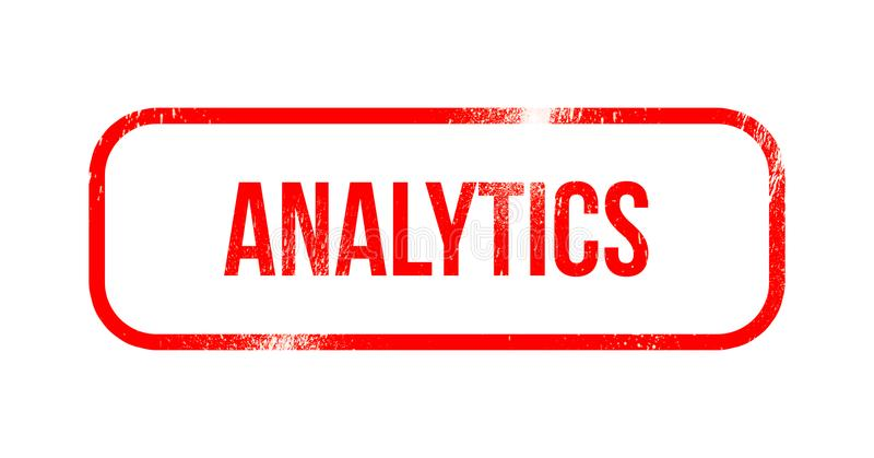 Analytics - red grunge rubber, stamp stock illustration