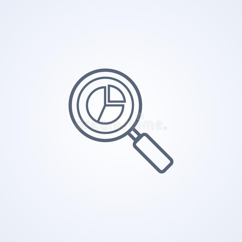 Analytics rengöringsdukanalytics, bästa grå linje symbol för vektor stock illustrationer