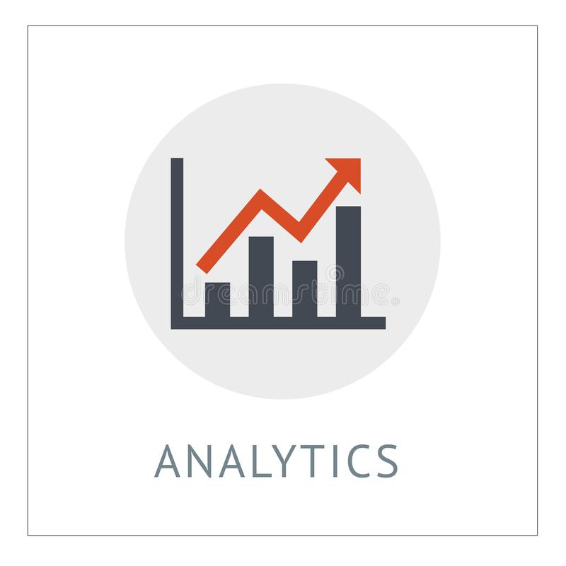 Analytics Simpel Logo Icon Vector Ilustration vector illustration