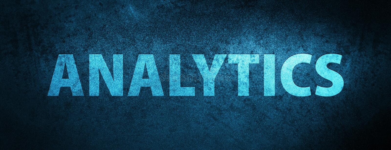 Analytics special blue banner background. Analytics isolated on special blue banner background abstract illustration royalty free illustration