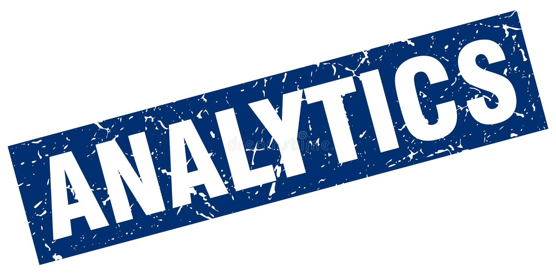 analytics stamp vector illustration