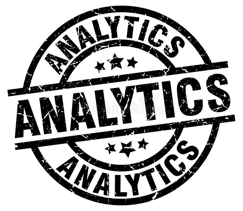 analytics stamp royalty free illustration