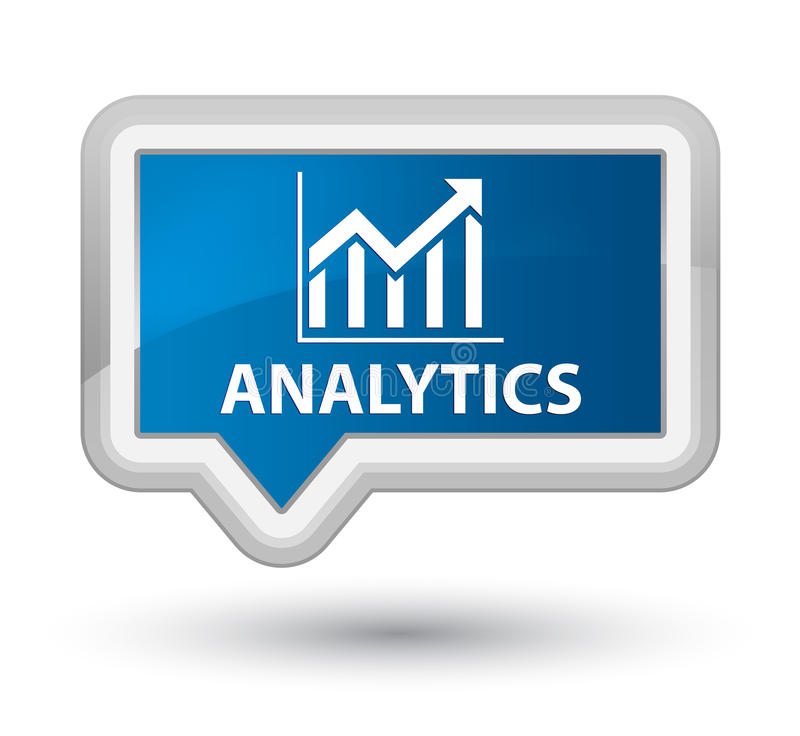 Analytics (statistics icon) prime blue banner button. Analytics (statistics icon) isolated on prime blue banner button abstract illustration royalty free illustration