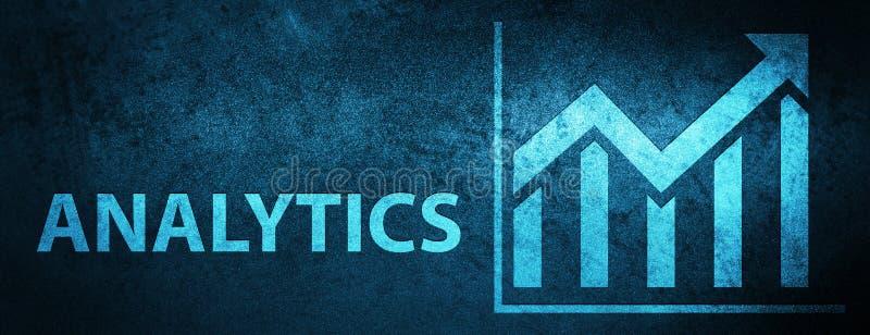 Analytics (statistics icon) special blue banner background. Analytics (statistics icon) isolated on special blue banner background abstract illustration royalty free illustration
