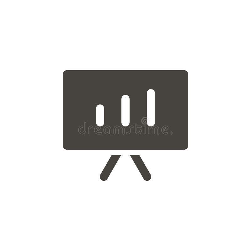Analytics symbol för diagrambrädevektor Enkel beståndsdelillustrationAnalytics, symbol för diagrambrädevektor r vektor illustrationer