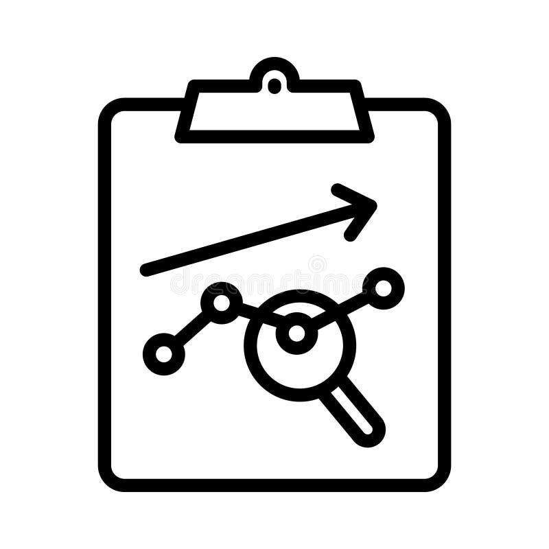 Analytics thin line vector icon royalty free illustration